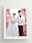 木相框實木相框結婚照掛墻歐式20 18 16寸婚紗照洗照片加相框【快速出貨】
