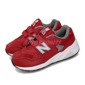 New Balance 休閒鞋 NB 580 寬楦 紅 白 女鞋 大童鞋 中童鞋 運動鞋 【PUMP306】 YV580ERGW