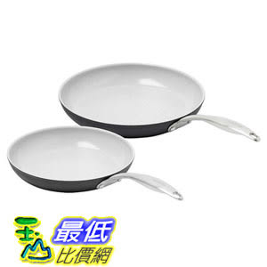 [106美國直購] 陶瓷奈米不沾鍋–平底煎炒鍋 -2入(30cm, 25cm) GreenPan Ceramic Non-Stick  A1784553