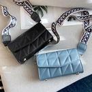 現貨-菱格包法國小眾高級感斜背包包女包2020新款網紅小黑包時尚菱格洋10-21