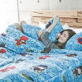 搖粒絨 / 雙人加大【正義曙光】床包兩用毯組  頂級搖粒絨  戀家小舖台灣製AAW315