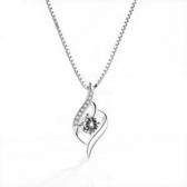 新品項鍊銀項鍊女925純銀鎖骨鍊送女友氣質吊墜韓版簡約頸鍊