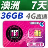 【TPHONE上網專家】澳洲 7天 36GB超大流量 4G高速上網 贈送當地無限通話 當地原裝卡 網速最快