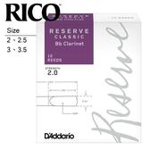 【小叮噹的店】DCT10 美國RICO Reserve Classic 豎笛竹片 / 黑管竹片 各尺寸、10片裝