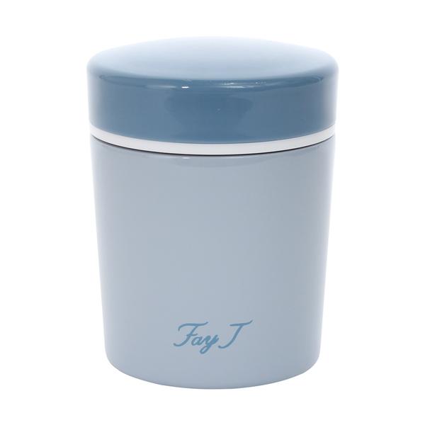 FayJ菲姐 雅典真空燜燒杯420cc-灰藍 保溫杯 不銹鋼 隨身瓶 隨行杯 保溫保冷 好生活