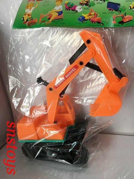 sns 古早味 玩具 古早味 工程車 挖土機 28x20公分