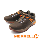 MERRELL(男) ZION PEAK HIKING 郊山健行鞋 男鞋- 綠棕