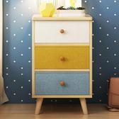 床頭櫃北歐簡約現代床頭收納櫃簡易元以內床邊小櫃子經濟型T