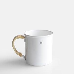 日本製【GSP】TSUBAME RATTAN MUG L 燕印純白琺瑯杯L