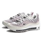 NIKE AIR MAX 98 流線 氣墊 粉紫 女 黑白 氣墊 避震 慢跑鞋 女(布魯克林) CI3709-001