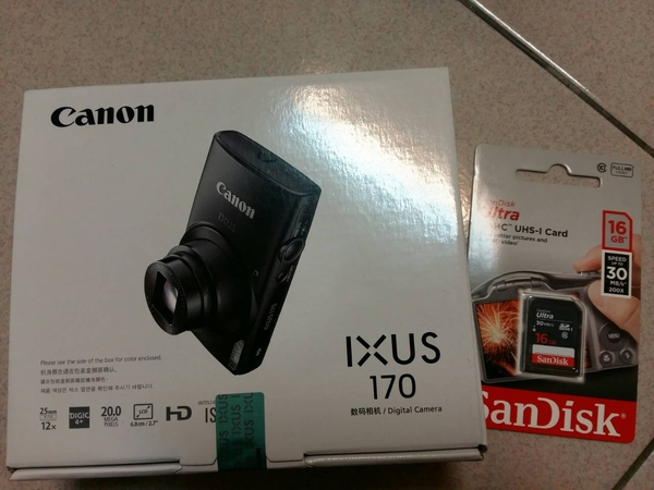 Canon IXUS 170 12倍光學變焦隨身機 (送16 G記憶卡)