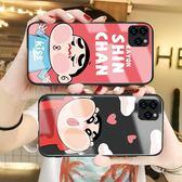 動漫IPhone 11pro鋼化玻璃矽膠手機套 防摔可愛個性蘋果11pro Max 手機殼   iphone 11卡通創意情侶保護套