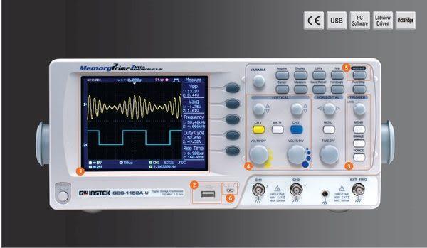 泰菱電子◆固緯150MHz數位儲存示波器(1GSa/s) GDS-1152A-U TECPEL(贈送USB隨身碟一PC)