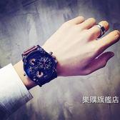 新年禮物-流行男錶超大錶盤手錶男女學生正韓簡約潮流青少年歐美個性非機械霸氣男錶