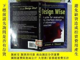 二手書博民逛書店design罕見wise 設計方面 16開 01Y261116