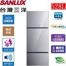 SANLUX台灣三洋 528L變頻3門電冰箱 SR-B528CVG
