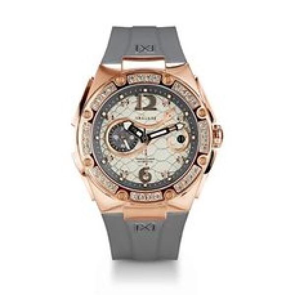 【NSQUARE】SNAKE QUEEN系列施華晶鑽時尚機械橡膠腕錶-奶茶灰/L0472-N48.2/台灣總代理享兩年保固