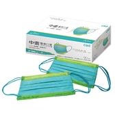 中衛醫療口罩30片-月河藍+炫綠