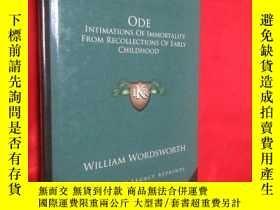 二手書博民逛書店Ode:罕見Intimations of Immortality