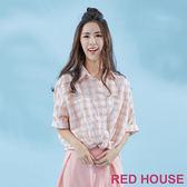 Red House-蕾赫斯-小格紋襯衫(共2色)