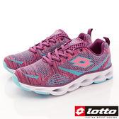 【LOTTO】時尚編織跑鞋款-LT8AWR6297-桃紫-女段-0
