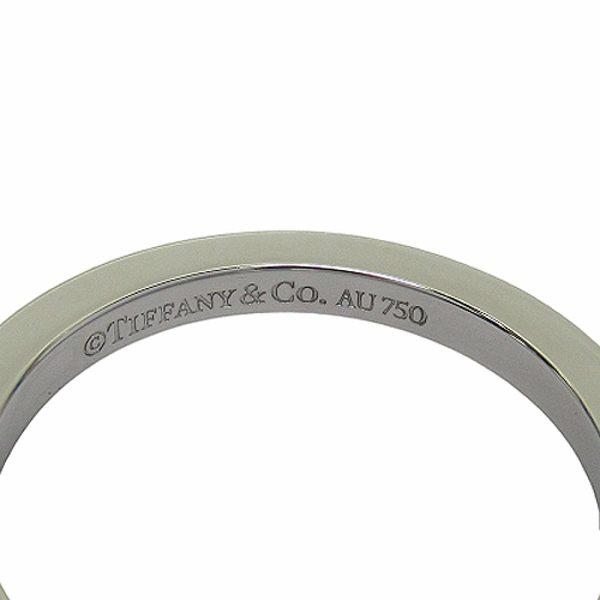 TIFFANY&CO 蒂芙尼 T系列18白K金方形戒指 K18WG 18.5號【二手名牌 BRAND OFF】