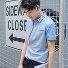 短袖襯衫夏季條紋短袖襯衫休閒薄款男士免燙襯衣新款寬鬆商務寸衣【618又一發好康八折】