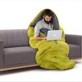 成人睡袋戶外帳篷露營保暖單人室內午休棉質睡袋【快速出貨好康八折】