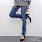 Victoria 窄直筒褲-女-淺藍