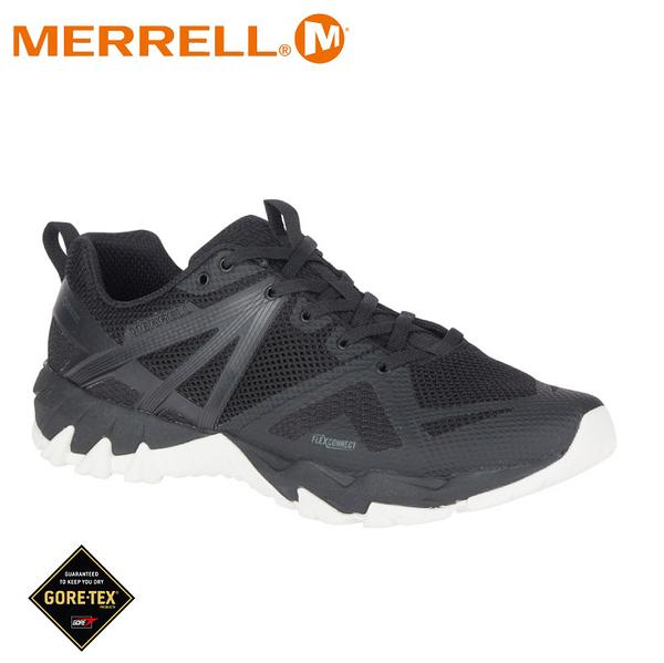 【MERRELL 美國 男 MQM FLEX GORE-TEX多功能健行鞋《黑/白》】ML85843/運動鞋/健走鞋/防水