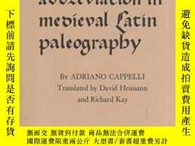 二手書博民逛書店Elements罕見Of Abbreviation In Medieval Latin Paleography