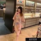 旗袍2020春夏季改良版大袖甜美復古蝕骨年輕款少女中國風連衣【全館免運】