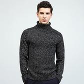 針織毛衣 長袖-純色百搭保暖高領男針織衫2色73ik77【時尚巴黎】