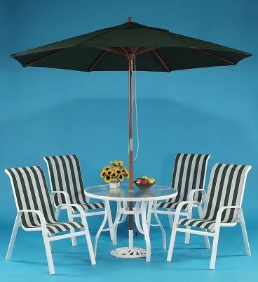 【南洋風休閒傢俱】戶外桌椅系列-105CM鋁合金玻璃圓桌椅組 戶外休閒餐桌椅組 咖啡桌椅組(HT039)