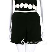 SEE BY Chloe'  黑x白色拼接設計荷葉剪裁短褲 1540090-01