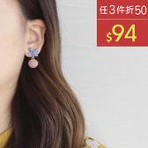 耳環 蝴蝶結 磨砂 球球 甜美 可愛 氣質 耳環【DD1711109】 BOBI  11/30