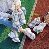 運動鞋 跑步鞋韓版加絨女鞋休閒鞋學生百搭軟妹鞋「Chic七色堇」