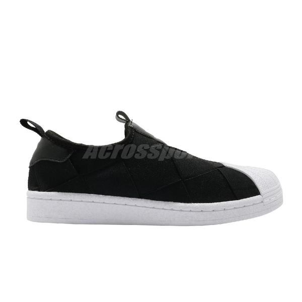 adidas 休閒鞋 Superstar Slip On W 黑 白 女鞋 繃帶鞋 金標 貝殼頭 運動鞋【ACS】 FV3187