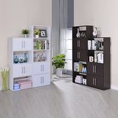 ONE HOUSE-DIY-北歐二代四層+五層雙門隔間櫃優惠組合/展示櫃/書櫃/書架/高低櫃