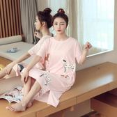 睡裙夏季清新學生可愛粉紅豹睡衣短袖夏天可外穿家居服 愛麗絲精品
