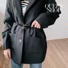 Queen Shop【07100084】基本百搭金釦小方頭造型皮帶 兩色售*現+預*