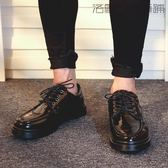 雙十二狂歡休閒皮鞋男英倫小皮鞋潮男鞋子【洛麗的雜貨鋪】