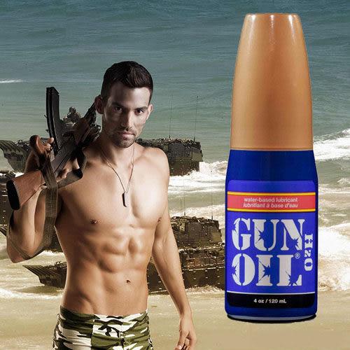 潤滑液水溶性按摩油-美國原裝進口Gun Oil H2O 高級水性潤劑 4oz(120ml)