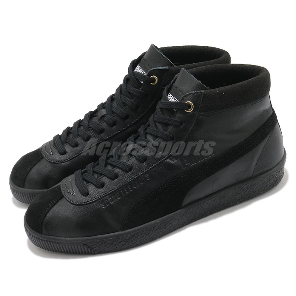 Puma 休閒鞋 Basket 68 Sonic 黑 金 男鞋 女鞋 音速小子 聯名款 中筒 【ACS】 37343001