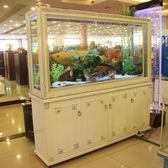 歐式魚缸客廳家用屏風隔斷鞋櫃長方形生態免換水玻璃金魚缸水族箱  NMS 小明同學
