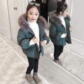 雙十二狂歡 女童棉衣2018新款冬裝洋氣加厚外套兒童大毛領棉服女孩寶寶棉襖潮 挪威森林