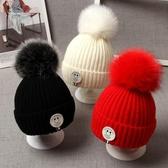 嬰兒帽子 寶寶帽子秋冬男童女童嬰兒帽子冬季加絨加厚護耳保暖兒童毛線帽潮【快速出貨】