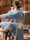 睡袍女秋冬加厚加絨長款甜美可愛公主珊瑚絨睡衣可外穿法蘭絨浴袍 瑪奇哈朵