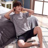 海外直發不退換睡衣居家服夏季新款純棉睡衣男士套裝可外穿休閑舒適運動家居服2008(M602D)