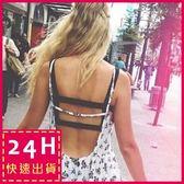 梨卡 - 羅馬背心 超火辣背交叉[美胸+舒適背心]夏季性感短款小可愛上衣D153